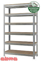 Стеллаж металлический для склада/магазина/гаража ЧК-300 2500х1200х460, оцинк.,6 полок ДСП, до 480 кг/полку