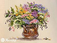 """Набор для вышивания крестом """"Полевые цветы"""" Мережка"""