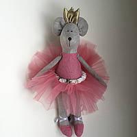 Мягкая игрушка лен ручная работа мышка балерина 30 см символ 2020