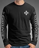 """0071 LS-BK  Мужская футболка-лонгслив """" Дамаскус"""" (Испания). Черная"""