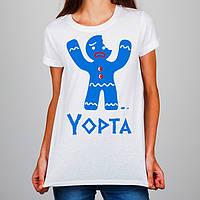 """Женская футболка Push IT с принтом Печенька """"Yopta"""""""