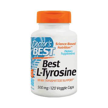 Аминокислоты Doctor's BEST Best L-tyrosine 500 mg (120 veg caps)