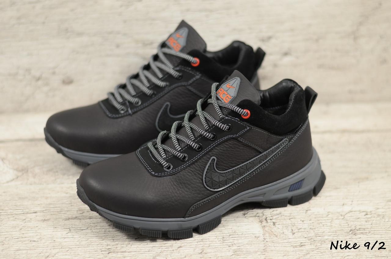 Мужские кожаные зимние ботинки Nike (Реплика) (Код: Nike 9/2  ) ►Размеры [40,41,42,43,44,45]