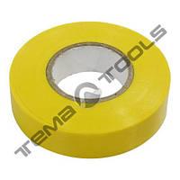 Лента изоляционная (изолента) ПВХ 0,13 мм x 19 мм x 10 м желтая