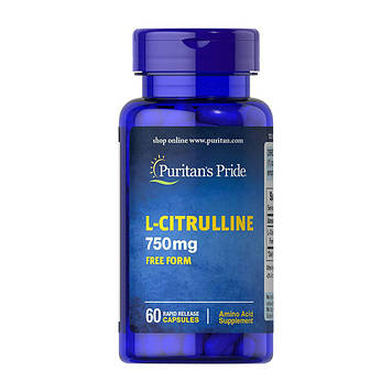 L-Citrulline 750 mg free form (60 caps) Puritan's Pride