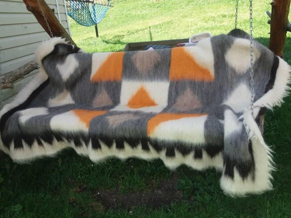 Ліжник з натуральної овечої шерсті, 150*220 см