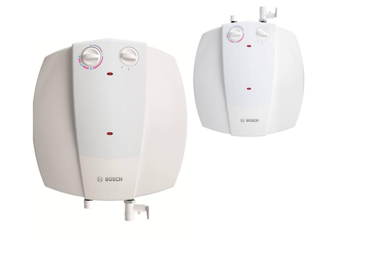 Электрический накопительный водонагреватель (бойлер) BOSCH Tronic 2000 T mini над мойкой 15 л
