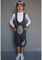 Карнавальный костюм Собачка №1 (флис/тёмно-серый)