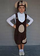 Карнавальный костюм Собачка №1 (флис/шоколад)