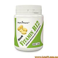 Витамин B12 200 таблеток по 50мкг (Stark Pharm Vitamin B12, витамин Б12, цианокобаламин)