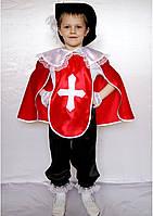 Карнавальний костюм Мушкетер №3 (червоний), фото 1