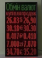 Табло Обмен Валют светодиодный 640х1120 зеленый/красный Wi-Fi управление