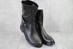 Ботинки женские Emma Z -028 черные (натуральная кожа, зима)