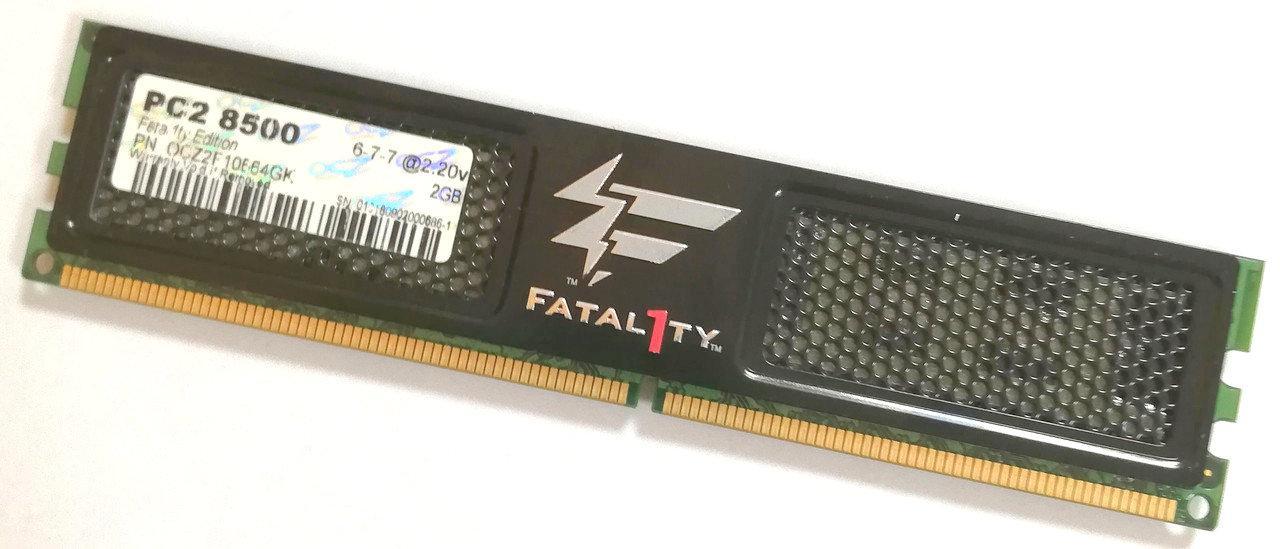 Игровая оперативная память OCZ Fatal1ty DDR2 2Gb 1066MHz PC2 8500U CL6 (OCZ2F10664GK) Б/У