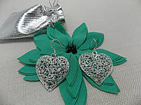 "Серьги ""Барокко сердечки""реплика Tiffany серебро"
