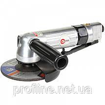 Угловая шлифмашинка пневматическая диаметр круга 115 мм INTERTOOL PT-1201, фото 3