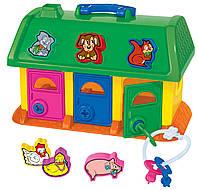 """Развивающая игрушка - сортер POLESIE """"Домик для зверей"""" (в сетке), зеленый (9166-2)"""