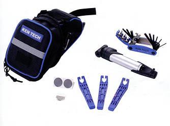 Набор велоинструментов из 6-ти предметов в сумке KL-9812B Kenli ( черный )