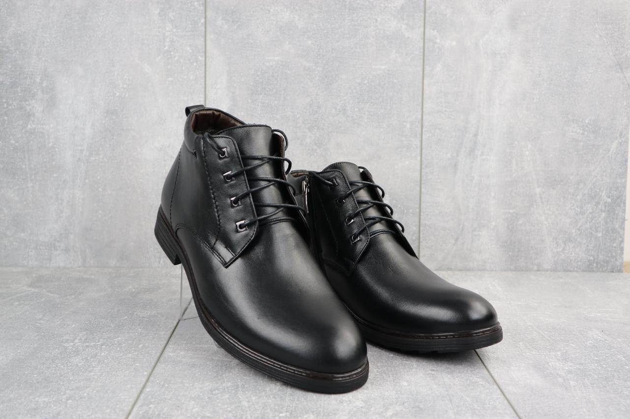 Ботинки мужские Vivaro 620 черные (натуральная кожа, зима)