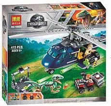 "Конструктор Bela 10925 ""Погоня за Блю на вертолёте"" (аналог Lego Jurassic World 75928), 415 деталей"