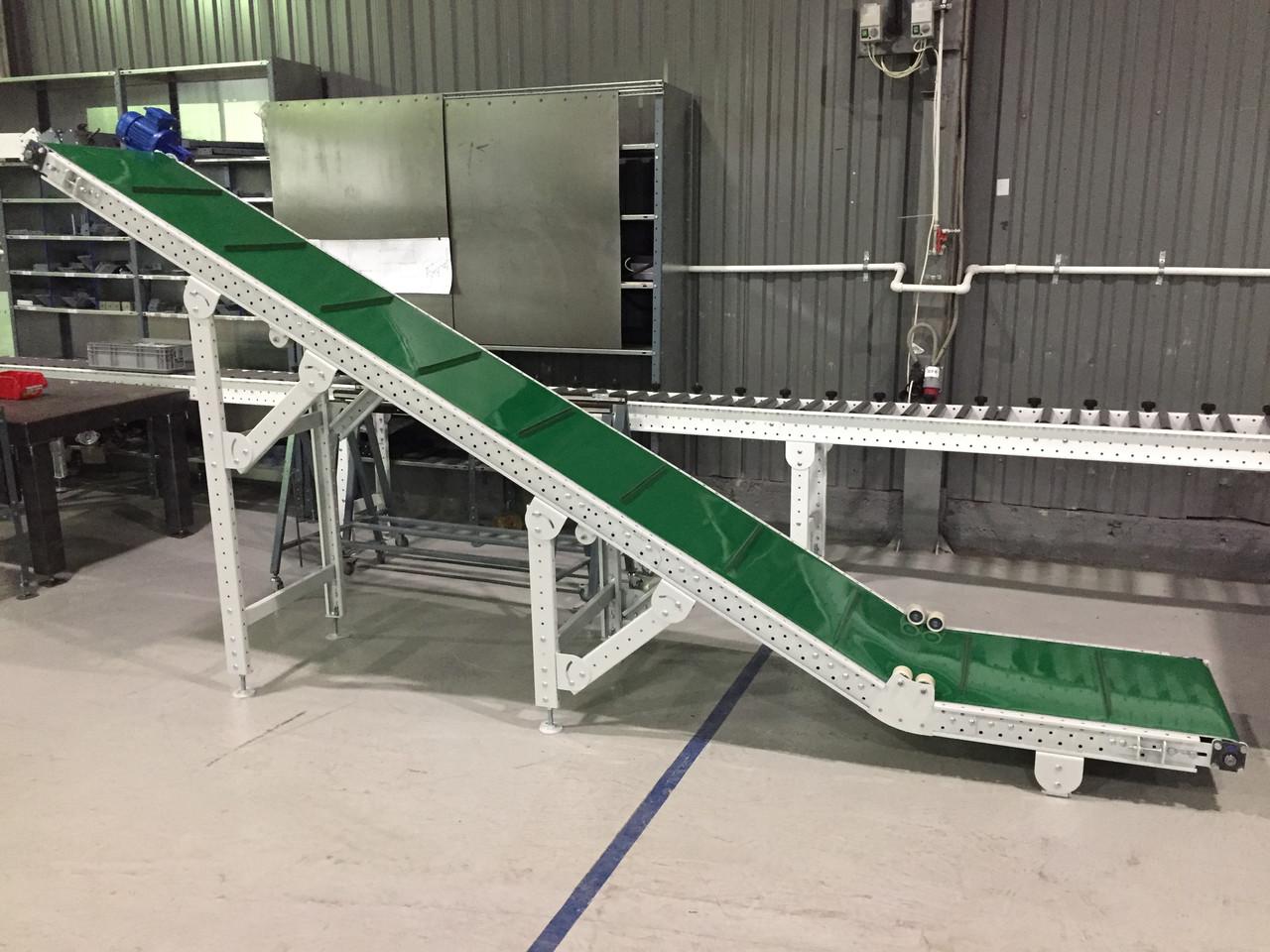 Конвейер ленточный стационарный для штучных грузов