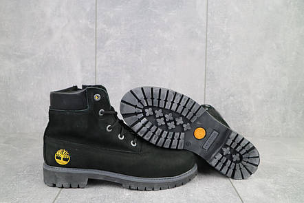 Ботинки подростковые Monster T черные-нубук (натуральная кожа, зима), фото 2