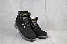 Ботинки подростковые Monster T черные-нубук (натуральная кожа, зима), фото 3