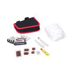 Набір велоинструменту з 10-ти предметів у сумці KL-9815 Kenli