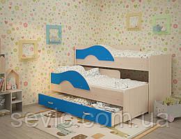 Невысокая кровать чердак для двоих ЧЕК 1