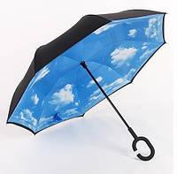 Обратный механический зонт, зонт наоборот Max Comfort 1007 голубое небо, фото 1