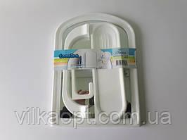 """Зеркало в ванную комнату (набор) в пластмассовой рамке ТР2103 """"Tombo"""" с аксессуарами 3 штуки (40,3*29,3 cm.)"""