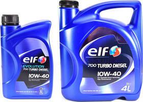 Моторное масло Elf EVOL 700 Turbo Diesel 10w40 (Канистра 1л, 4л, 5л, 208л)