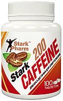 Кофеин Stark Pharm - Caffeine 200 мг (100 таблеток) (в 2 раза выгоднее аптечного)