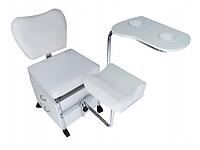 Педикюрное кресло с подставкой для ног и чашами