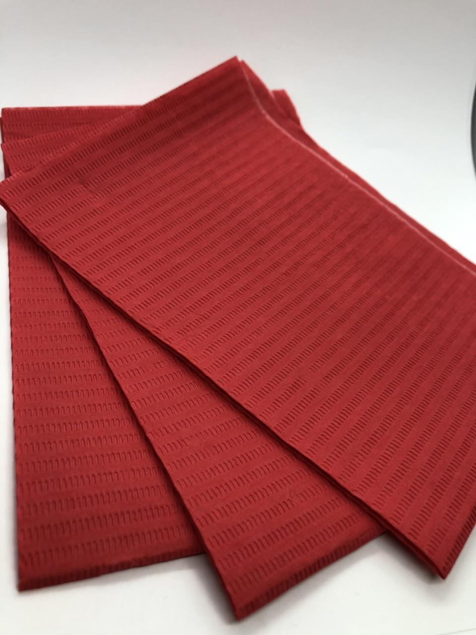 Салфетки для маникюрного стола красные, 25 шт