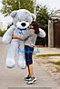 Большой плюшевый мишка Рафаель 180 см серый