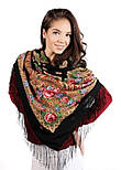 Мгновение 1106-18, павлопосадский платок шерстяной с шелковой бахромой, фото 4