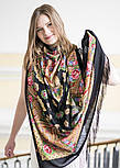 Мгновение 1106-18, павлопосадский платок шерстяной с шелковой бахромой, фото 5