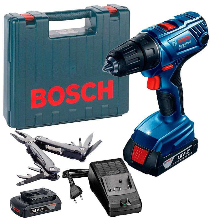 Акумуляторна дриль-шуруповерт Bosch GSR 180-Li Professional + Multitool (18 В, 1.5 А*год) (0615990K9P)