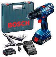 Акумуляторна дриль-шуруповерт Bosch GSR 180-Li Professional + Multitool (18 В, 1.5 А*год) (0615990K9P), фото 1