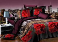 Комплект постельного белья  Роза и  город