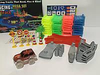 Конструктор Magic Tracks 360 деталей,  детская дорога с мостом и 2 гоночные машинки