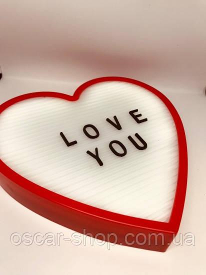 Ночник светильник Сердце Light up message board