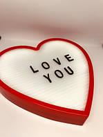 Нічник світильник Серце Light up message board