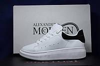 Женские белые кожаные кроссовки, кеды в стиле Alexander McQueen