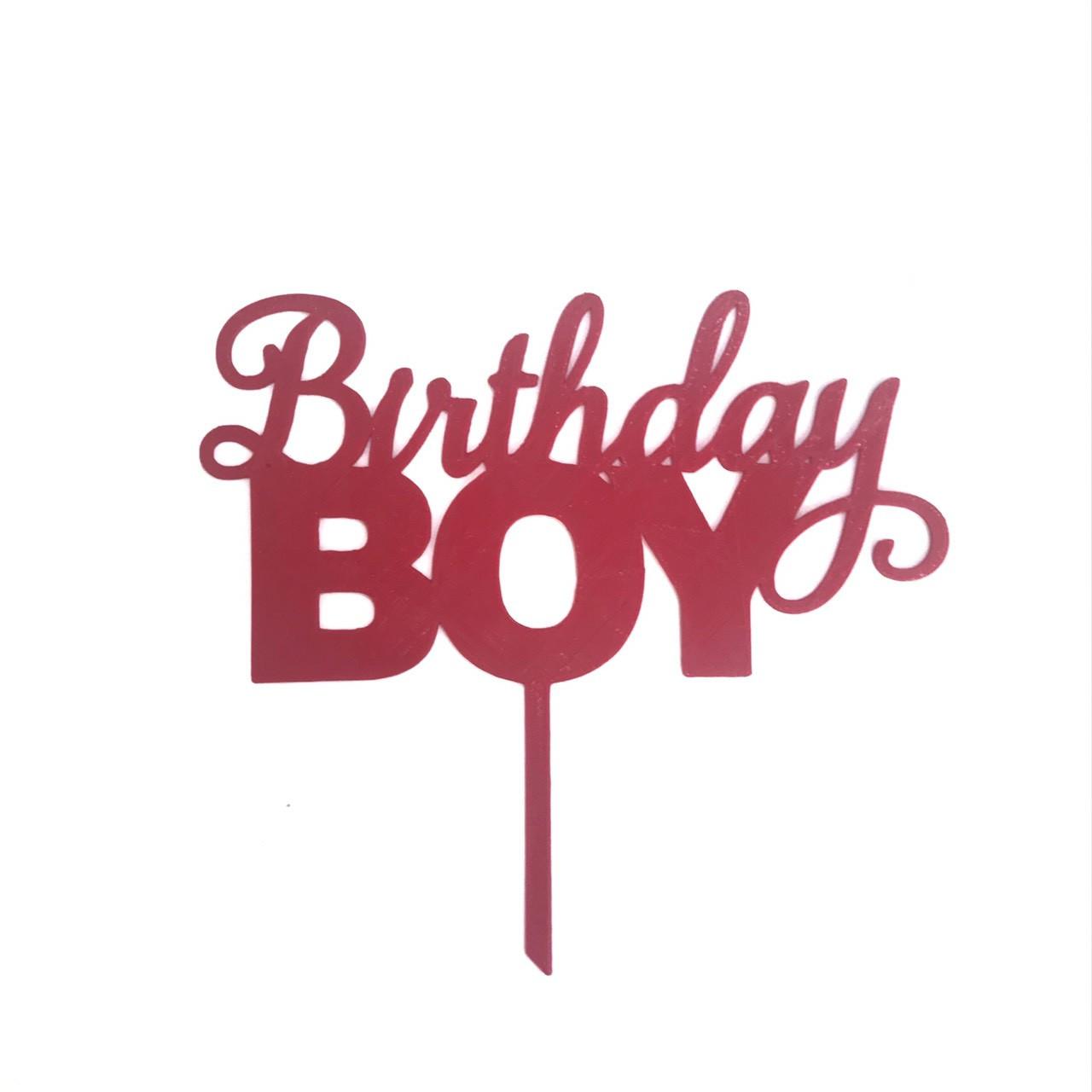 """Топпер """"Birthday Boy""""красный"""