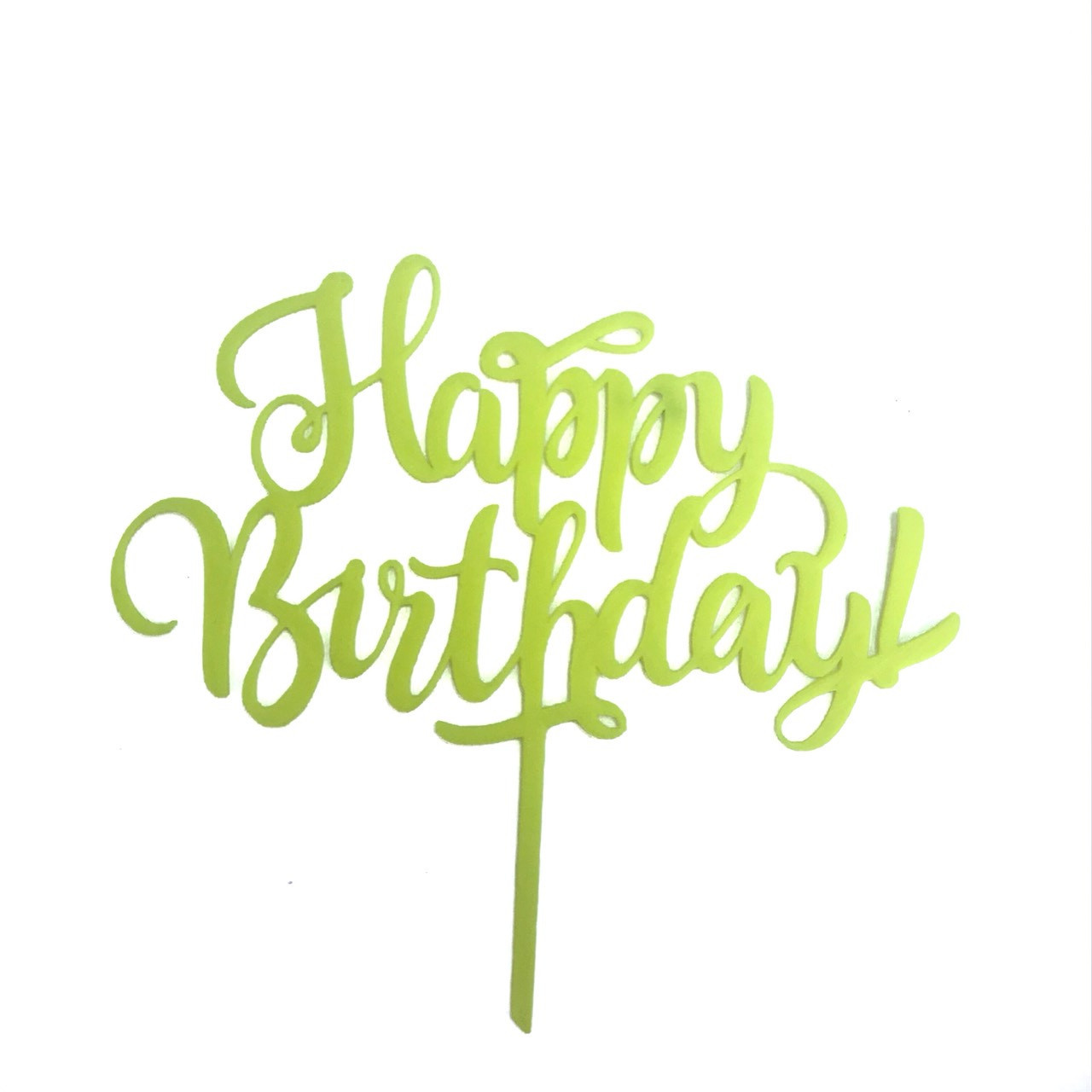 """Топпер """"Happy Birthday""""желтый"""