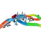 Конструктор Magic Tracks 360 деталей,  детская дорога с мостом и 2 гоночные машинки, фото 3