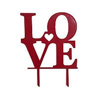 "Топпер ""Love"" красный"