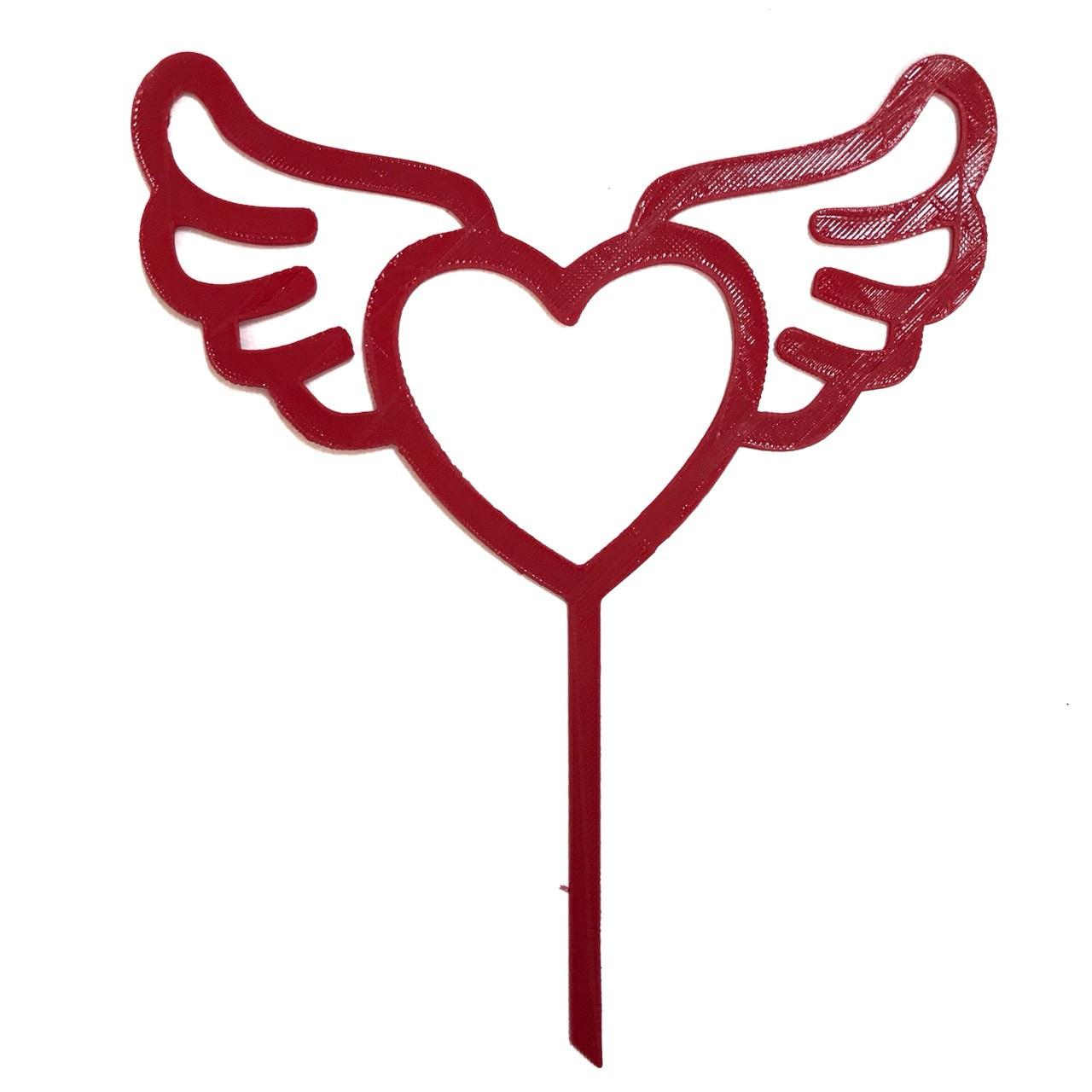 """Топпер """"Сердце"""" красный"""